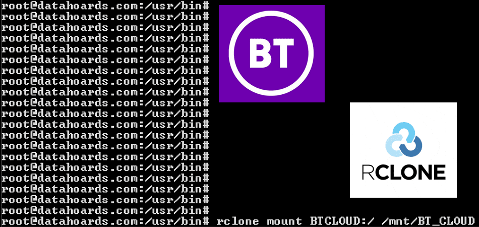 Trying to use Rclone with BT Cloud