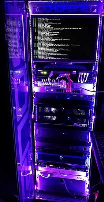 Custom DIY RGB server rack based on the Omnitronic SRT-19