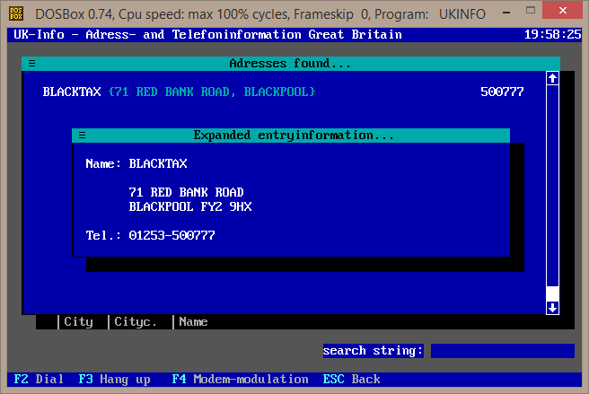 Blacktax entry from 1996 UK Info Disk