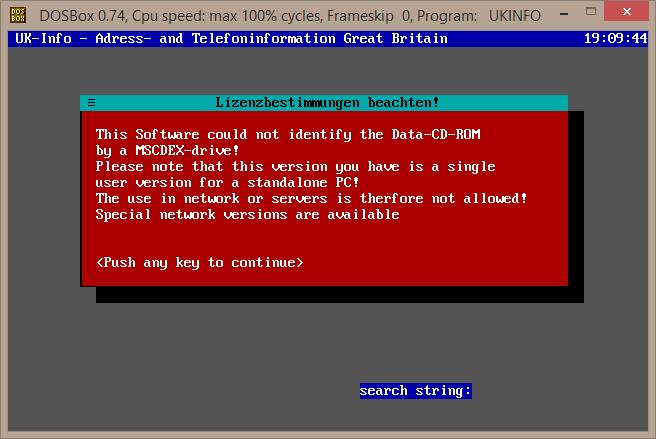 MSCDEX error message