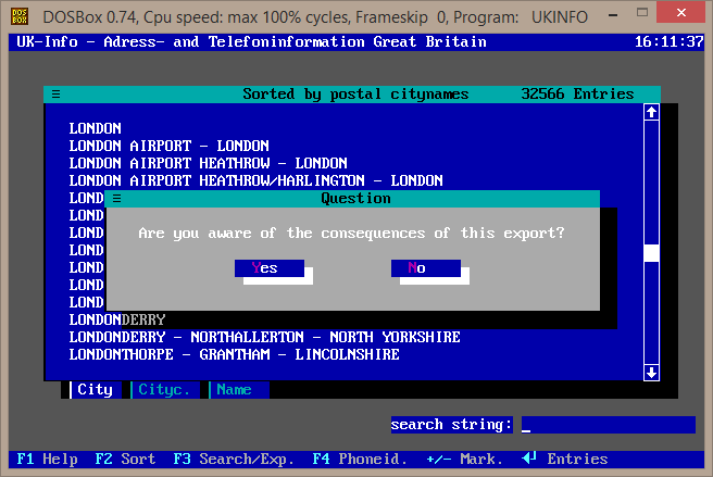 Exporting from UK Info v1.0