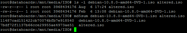MD5 hashes are now different